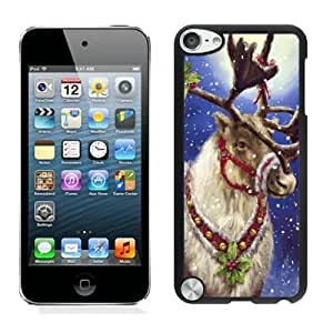 Popular Design Christmas deer Black iPod Touch 5 Case 10