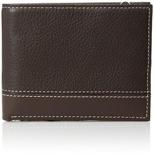 - Perry Ellis Men's Sheridan Passcase Wallet, Brown, One Size