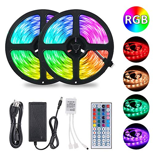 LED Strip Lights Tomshine 32.8ft 300leds RGB Color Rope Light with 44 Keys IR Remote Controller Dimmable IP65 Waterproof for Bedroom Home Garden & Kitchen.