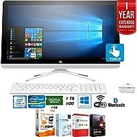 Beach Camera HP 24-g230 7th Gen Intel Core i3-7100U 1TB 23.8 All-in-1 PC Z5M23AA#ABA + Elite Suite 17 Standard Software Bundle (Corel WordPerfect, WinZip,PDF Fusion,X9) + 1 Year Extended Warranty