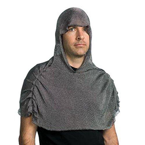 (Largemouth Men's Faux Chain Mail Costume Helmet)