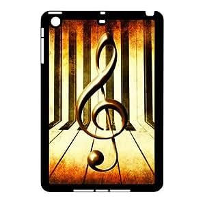 iPad Mini (iPad mini 2) Case,Vintage Music Note Music Symbol Piano Keys Hign Definition Retro Design Cover With Hign Quality Hard Plastic Protection Case