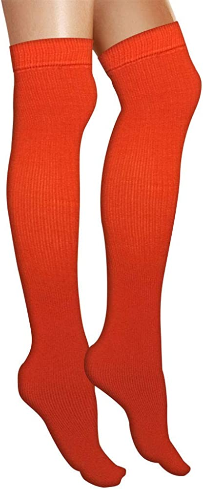 AJs Thick Solid Color Knee High Tube Socks Made in USA Shoe Size 5 and up Socks Size 11-13
