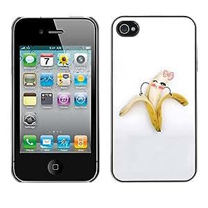 Paccase / SLIM PC / Aliminium Casa Carcasa Funda Case Cover - Funny Cute Banana Girl - Apple Iphone 4 / 4S