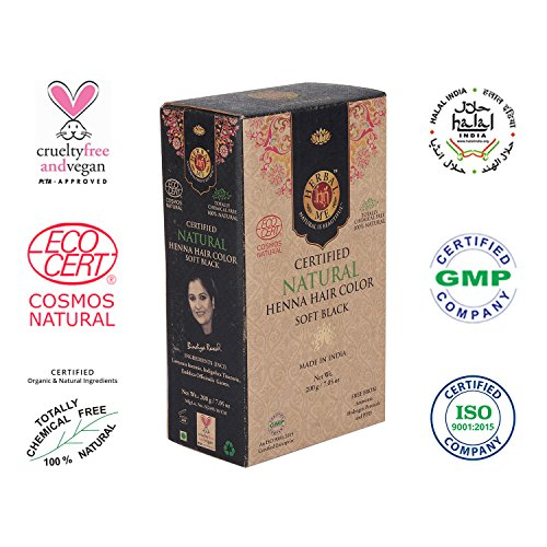 - Herbal Me - Soft Black Henna Hair Color 7.05 oz,CERTIFIED 100% Natural by Ecocert(France).VEGAN & HALAL approved, Zero chemicals