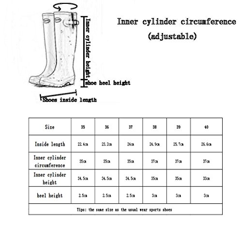 Women's Gloss Spring Shoes Rain Slip Rain Pink2 Anti for Snow Tall Rubber Summer Wellies Boots Winter f5qUxRF