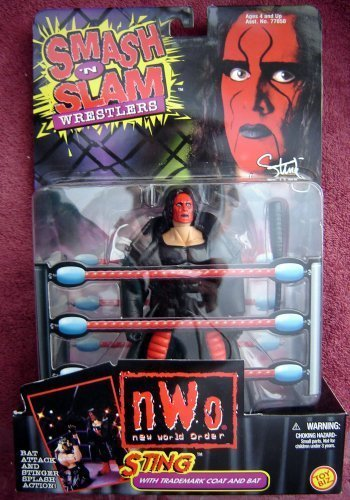 Sting Smash 'N Slam Wrestling Figure NWO WWE WWF WCW (Sting Action Figure Wcw Nwo)