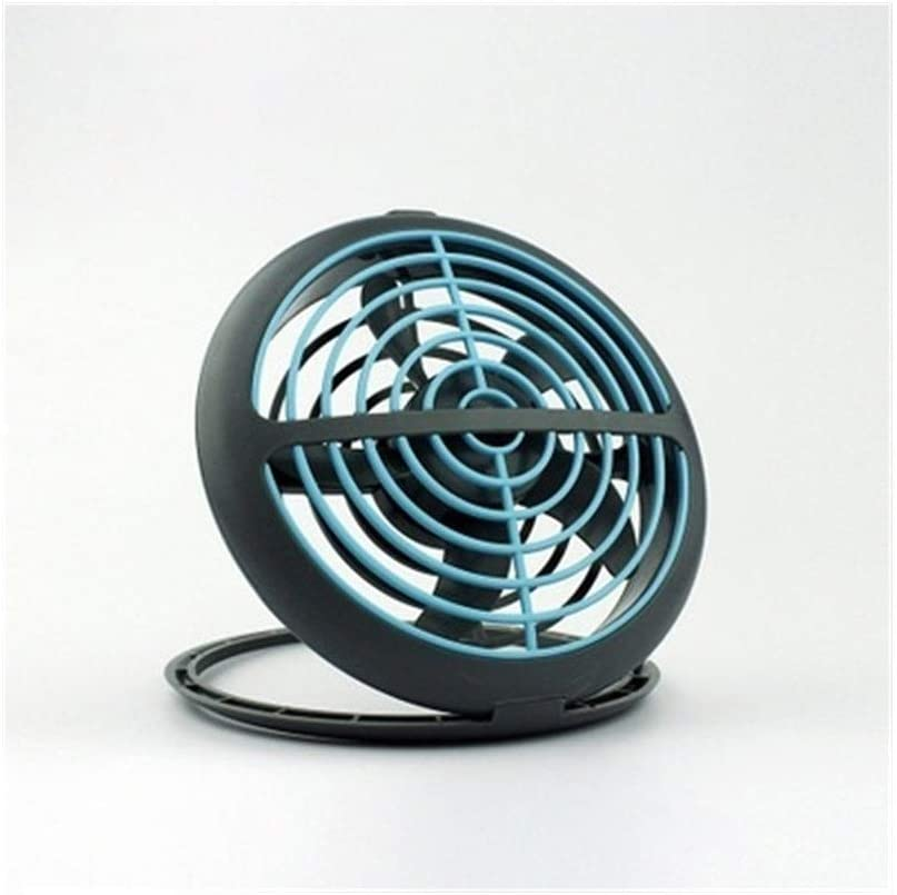 Color : Blue YIWU Portable USB Fan , Ultra Quiet Cooler Air Cooling Creative Desktop Fan for Home Office