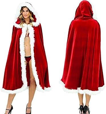 wildeal adulto capa mujeres Cosplay disfraz de Papá Noel capa capa ...