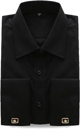 Jeetoo - Camisa de manga larga para hombre, estilo francés ...