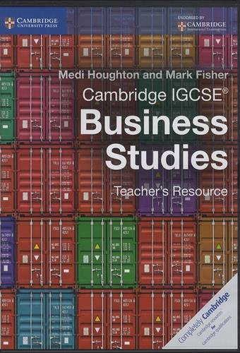 Cambridge IGCSE® Business Studies Teacher's Resource CD-ROM (Cambridge International IGCSE) by Cambridge University Press