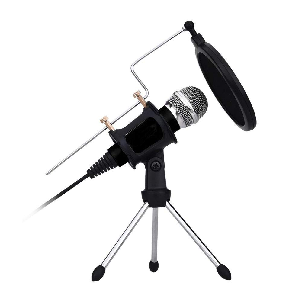 CJP1 Condenser Microphone, Plug and Play Mini Home Studio Microphone Recording Suitable for Computer Phones No Software Drivers Required