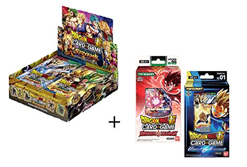 Dragon Ball Super Series 7 Assault of The Saiyans Variety Booster Box, Deck, and Special