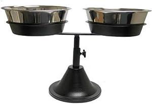 QT Dog Double Adjustable Barstool Diner, Black, 3 Quart