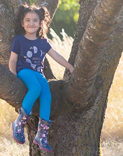 Oakiwear Kids Rubber Rain Boots, Midnight Floral, 4Y US Big Kid by Oakiwear (Image #6)