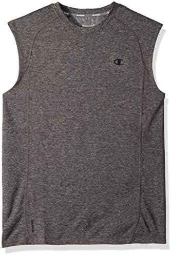 Champion Mens Double Dry Mesh Texture Muscle Tee