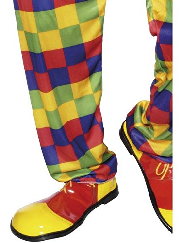 Smiffy's Adult's Unisex Clown Shoes, Yellow and Red, One Size, 25519