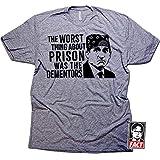 6f66d58de Daft Threads Prison Mike Dementors Office T-Shirt & Fact Sticker Heather  Grey (3XL)