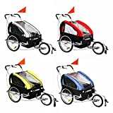 Confidence 2 in 1 Baby Bike Trailer w/Suspension Yellow