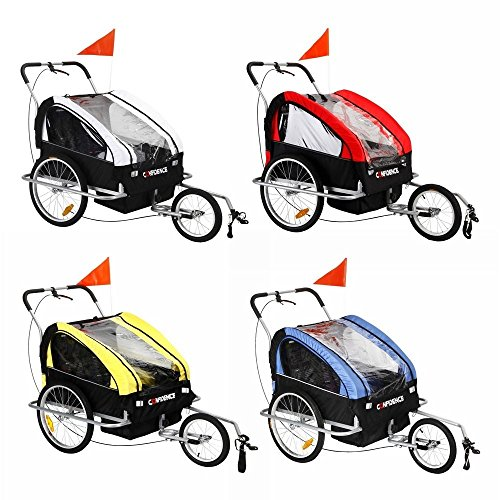 Child Bike Trailer Stroller And Jogger W/ Hidden Suspension - 1