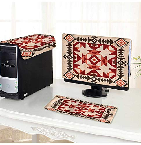 Leighhome Computer dustproof Three-Piece Original Natial Heritage Maya Pyramids Local Regi Esoteric Myth Motive for LED LCD Screens Flat Panel HD Display /23