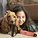 PetGroom, The Best Dematting Tool & Deshedding Comb - Professional Rake Double Row Teeth Brush for Dogs or Cats - Best in Removing of Undercoat, Mats, Knots and Tangled Hair | Soft Grip Handle