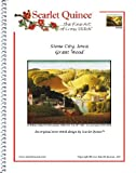 Scarlet Quince WOO006 Stone City, Iowa by Grant Wood Counted Cross Stitch Chart, Regular Size Symbols