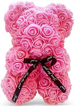 Pink Rose Handmade Teddy Bear