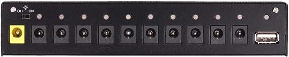 JJmooer Station d/'alimentation pour effets de guitare compact de taille 10 sorties CC isol/ées pour effets de guitare 9V 12V 18V avec sortie USB 5V