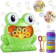 HOMOFY Bubble Machine for Kids Automatic Bubble Maker 500 Bubbles per Minute with Bottle Durable Solution &