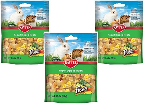 (3 Pack) Kaytee Fiesta Tropical Fruit and Yogurt Mix for Small Animals, 3.5 Ounce Each