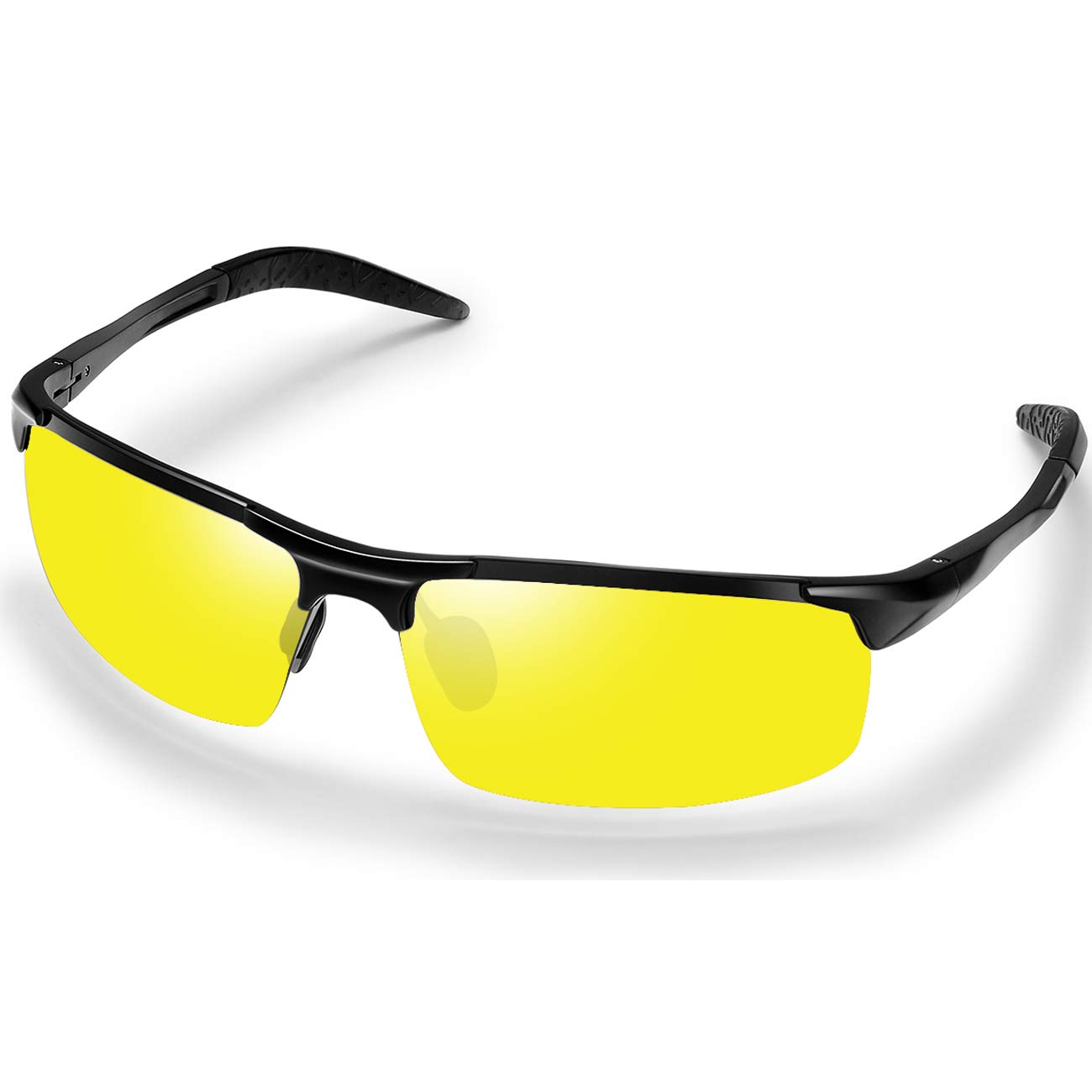 Polarized Sunglasses Sports Sunglasses for Men - FEIDU Polarized Sports Sunglasses for Men Sunglasses Man FD8005 (8005-yellow) by FEIDU