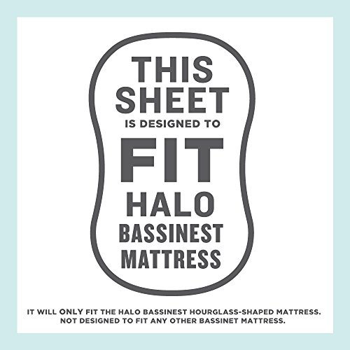 Best Halo Bassinet Mattress Pad - & Sheet Cover Protector, Waterproof Fitted Sheets for Halo Swivel Sleeper, Hypoallergenic, White & Grey Chevron Design for Baby Boy & Girl, Smart Elastic Band Design by Amy Carinn Collection (Image #6)