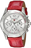 Swiss Legend Women's 'Paradiso' Quartz Stainless Steel and Leather Casual Watch, Color:Red (Model: 16016SM-02-RDS)