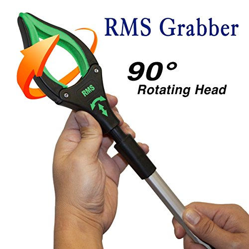 RMS 26'' Grabber Reacher   Rotating Gripper   Mobility Aid Reaching Assist Tool   Trash Picker, Litter Pick Up, Garden Nabber, Arm Extension   Ideal for Wheelchair and Disabled (Green) by RMS Royal Medical Solutions, Inc. (Image #1)