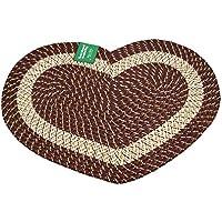 Emerald Wholesale Heart Shaped Braided Rug, 20 X 30, Burgundy, 20 X 30