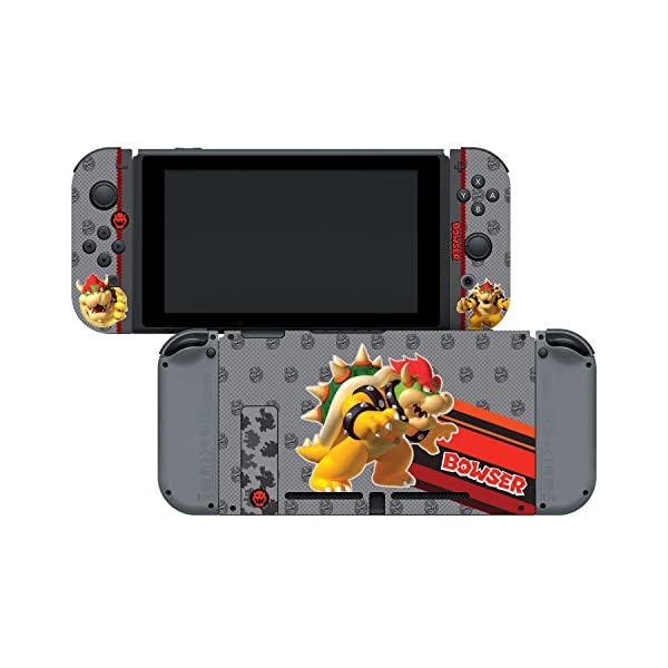 "Controller Gear Nintendo Switch Skin & Screen Protector Set, Officially Licensed By Nintendo - Super Mario Evergreen ""Bowser"" - Nintendo Switch 4"