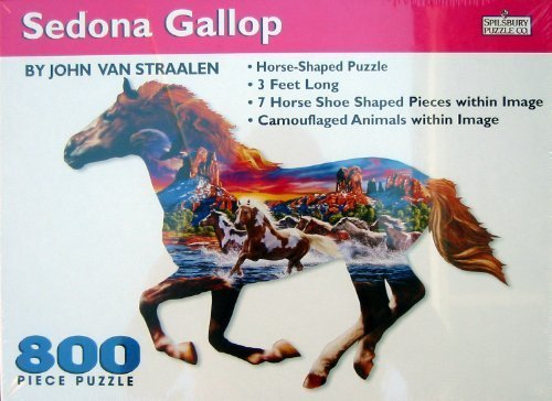 Sedona Gallop 800pc. Horse Shaped Puzzle