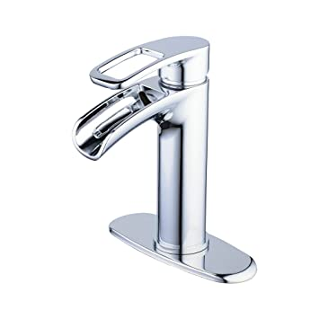 Chrome Waterfall Bathroom Faucet Hiendure 1 Hole Or 3 Hole Brass
