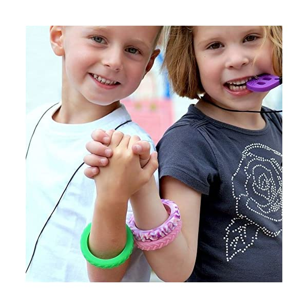 designed for Anxiety Reduction /& Improved Focus Autism Chewigem Strong textured /& Discreet ADH Created as a calming aid for Sensory Processing Difficulties Chewable Adult Bangle /& Sensory Chew