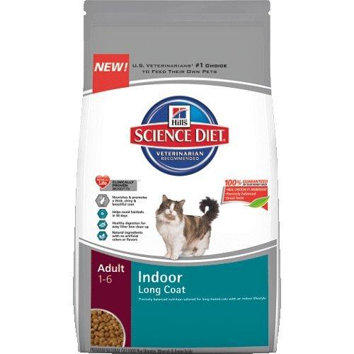 Hills Science Diet Adult Indoor Long Coat Cat Food, 15.5 Lb Bag