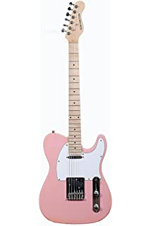 Premium Full Size 39 Inch Pink Electric Guitar [Telecaster Style] T-Style with