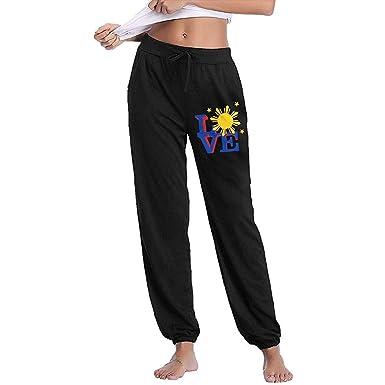 Bu-BY Filipino Sun Love Pantalones de chándal Mujer, Pantalones de ...
