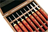 PSI Woodworking LCAN8MD HSS Micro Detailing Anniversary Lathe Chisel Set, 8-Piece