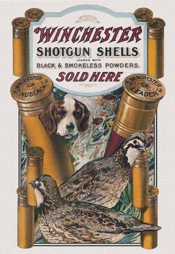 (Tin Signs Winchester Dog & Quail)