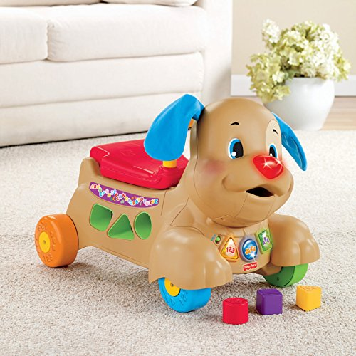 51Io6JI9mEL - Fisher-Price Laugh & Learn Stride-to-Ride Puppy [Amazon Exclusive]