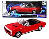 1967 camaro ss model - New 1:18 W/B SPECIAL EDITION - RED 1967 Chevrolet Camaro RS/SS 396 Diecast Model Car By Maisto