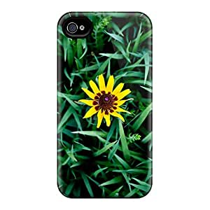 Durable Lil Yellow Flower Back Case/cover For Iphone 4/4s