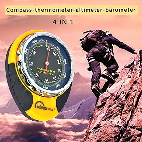 S-Sport-Life - Portable 4in1 Mechanical Compass Barometer Altimeter Elevation Table Thermometer LED Flashlight Mini Compass
