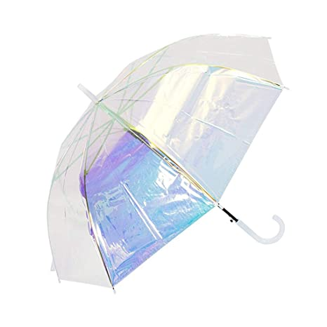 d97398f7435a Amazon.com: WZJ-UMBRELLAS Magic Rainbow Transparent Umbrella ...